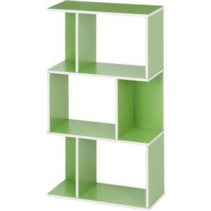 オープンラック/インテリア家具 【グリーン】 3段 幅59cm×奥行24cm×高さ106.2cm 『YOU ボックス』 の画像