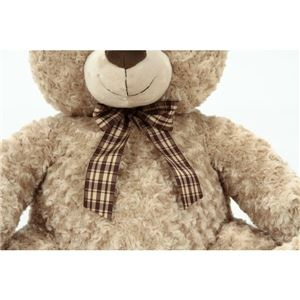 子供用 ぬいぐるみ/人形 【熊型 ベージュ】 幅56cm 『お座りくまさん』 〔おもちゃ 子ども部屋〕