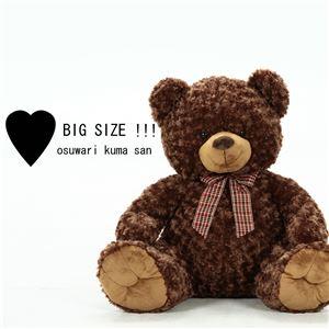 子供用 ぬいぐるみ/人形 【熊型 ブラウン】 幅56cm 『お座りくまさん』 〔おもちゃ 子ども部屋〕
