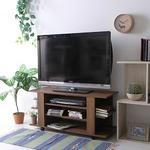 テレビボード/テレビ台 【ミディアムブラウン 幅100cm 26型〜42型対応】 収納棚 キャスター付き 『ルーク』 の画像