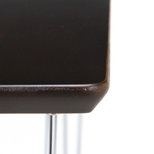ダイニングテーブル/リビングテーブル 【ブラウン】 正方形 幅75cm スチールフレーム 〔インテリア家具 什器〕 の画像