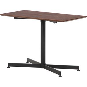 センターテーブル/ローテーブル 【ブラウン 幅80cm】 脚部アジャスター付き 『ウチカフェテーブル トラヴィ』