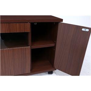 テレビ台/テレビボード 【ブラウン】 幅80cm 24型〜37型対応 収納棚 扉付き収納 キャスター付き 『クロノス』 の画像