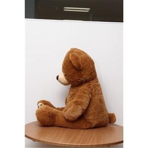 子供用 ぬいぐるみ/人形 【熊型 ブラウン】 幅50cm 〔おもちゃ 子ども部屋〕