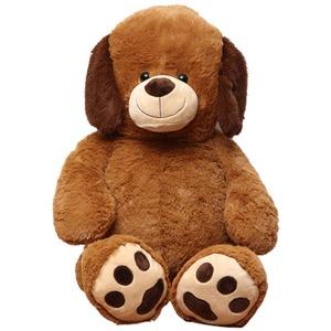 子供用 ぬいぐるみ/人形 【犬型 ブラウン】 幅45cm 〔おもちゃ 子ども部屋〕
