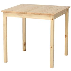 シンプルなダイニングテーブル/リビングテーブル 【ナチュラル】 幅75cm 木製 『ディアス』