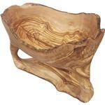 北欧風 オリーブ製 花台/ディスプレイ 【ナチュラル】 幅350〜400mm ハンドメイド 木製 〔リビング 玄関 什器〕の画像
