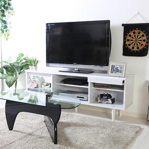 テレビボード/テレビ台 【ホワイト 幅150cm】 42型〜65型対応 収納棚 扉付き収納 雑誌ディスプレイ付き 『アルト』