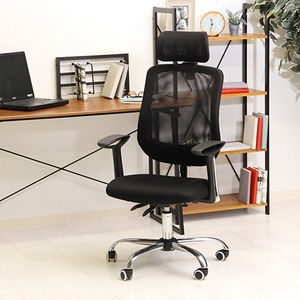 多機能オフィスチェア/デスクチェア 【ブラック】 幅61cm ハイバック リクライニング 高さ調整可 キャスター付 『アンテロープ』