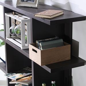 オープンシェルフ/インテリア家具 【4段 幅広】 幅120cm ブラウン 見せる収納 『FUGA』 〔ディスプレイ用品 什器〕 の画像