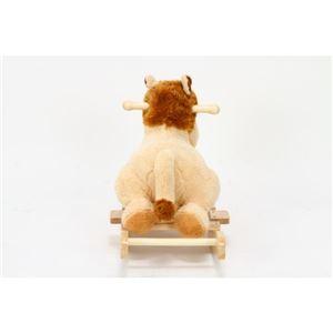 子供用 ロッキングチェア/揺り椅子 【ライオン型】 幅65cm 木製素材使用 『ロッキングアニマル』 〔おもちゃ 子ども部屋〕