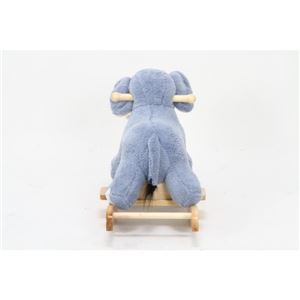 子供用 ロッキングチェア/揺り椅子 【ゾウ型】 幅65cm 木製素材使用 『ロッキングアニマル』 〔おもちゃ 子ども部屋〕