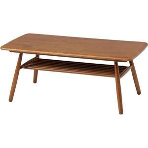 ウッド センターテーブル ラバーズ ライトブラウン