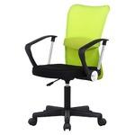 デスクチェア(椅子)/メッシュバックチェアー 【ハンター】 ガス圧昇降機能/肘掛け/キャスター付き グリーン(緑)