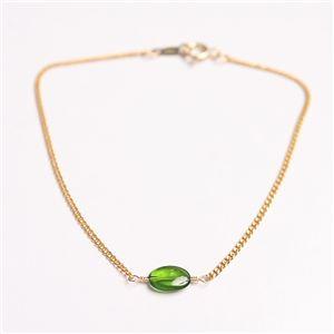 宝石質クロム・ダイオプサイド オーバルカット ブレスレット 18cm