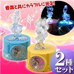 ディズニー クリスタルアラーム2種セット【ミニー&ドナルド】¥2,480