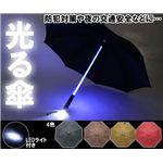 光るLED付き傘(485mm) レッド