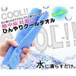 ひんやりクールタオル 30x80cm (筒A) ブルー 【2個セット】