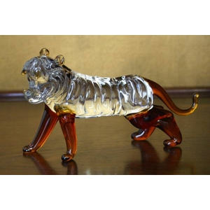 クリスタル タイガー 置物 CT006