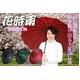 桜の浮き出る蛇の目傘 『花時雨』 16本骨&グラスファイバー エンジ 写真1