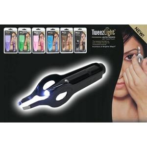 TweezLight 携帯収納ケース付きライトツイーザー ブラック