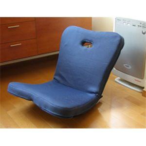 うたた寝 ロッキング座椅子 ブルー - 拡大画像