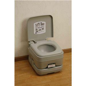 本格派ポータブル水洗トイレ 10リットル - 拡大画像