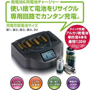 乾電池&充電池チャージャー - 拡大画像