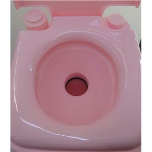 本格派ポータブル水洗トイレ ピンク 20リットル