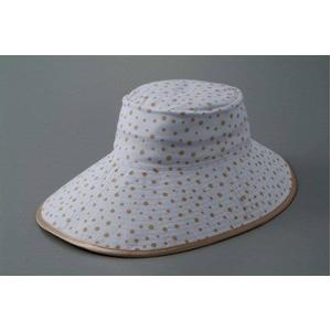シルク つば長ひんやりリバーシブル帽子 ベージュ