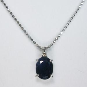 《地球遺産シリーズ》シルバー2.0ctupブルーサファイアダイヤモンド入りネックレスの写真1