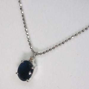 《地球遺産シリーズ》シルバー2.0ctupブルーサファイアダイヤモンド入りネックレスの写真2