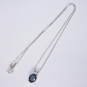 《地球遺産シリーズ》シルバー2.0ctupブルーサファイアダイヤモンド入りネックレスの写真3