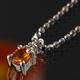 《地球遺産シリーズ》シルバー0.3ctupゴールデンサファイアダイヤモンド入りネックレス - 縮小画像1