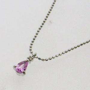 《地球遺産シリーズ》シルバー0.3ctupピンクサファイアダイヤモンド入りネックレスの写真2