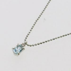 《地球遺産シリーズ》シルバー0.4ctupアクアマリンダイヤモンド入りネックレスの写真2