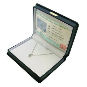 《地球遺産シリーズ》シルバー0.4ctupアクアマリンダイヤモンド入りネックレスの写真3