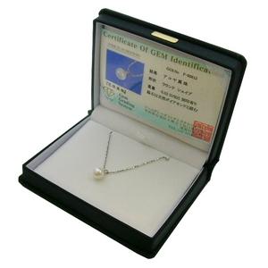 《地球遺産シリーズ》シルバー7.0ミリup花珠パールダイヤモンド入りネックレスの写真3