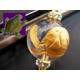 《健やかで幸せな長寿を手に入れる》大玉金彫り 銭亀 縁起物ストラップ《パワーストーン・天然石》 - 縮小画像1