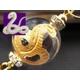 大玉金彫り 白蛇水晶 縁起物ストラップ《パワーストーン・天然石》 - 縮小画像1