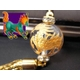 《いつも心に平穏を》大玉金彫り 麒麟(キリン) 縁起物ストラップ《パワーストーン・天然石》 - 縮小画像1