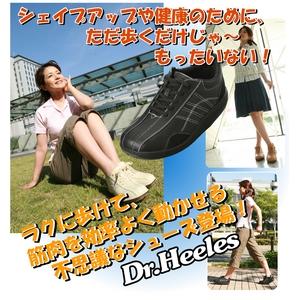 ウォーキングシューズ NEW Dr.Heelesカジュアル ブラック 22.0cm