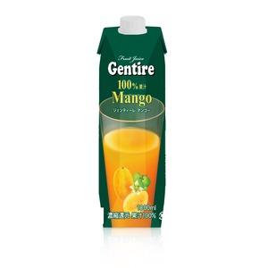 Gentire(ジェンティーレ) マンゴージュース 1L×6本 【パッケージ切替中】 - 拡大画像