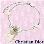 Christian Dior(クリスチャンディオール) ブレスレット ピンクロゴパールブレスレット D14515