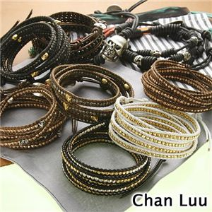 CHAN LUU(チャンルー) ラップブレスレット 【J】Silver×Black - 拡大画像