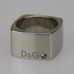 D&G(ディーアンドジー) ロゴ&ラインストーンリング DJ0380