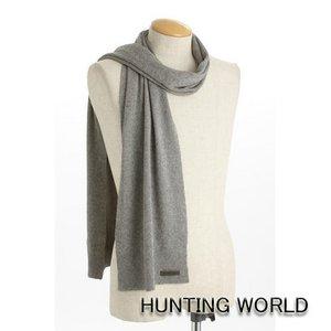 HUNTING WORLD(ハンティングワールド)/カシミア混マフラー/063300(ライトグレー) - 拡大画像