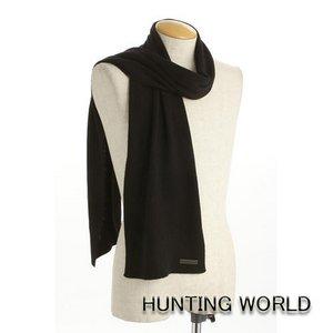HUNTING WORLD(ハンティングワールド)/カシミア混マフラー/063300(ブラック) - 拡大画像