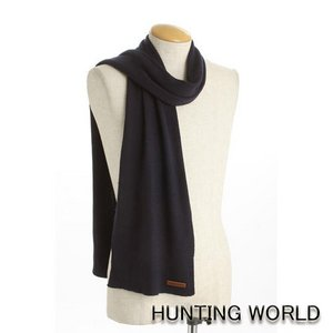 HUNTING WORLD(ハンティングワールド)/カシミア混マフラー/063300(ネイビー) - 拡大画像