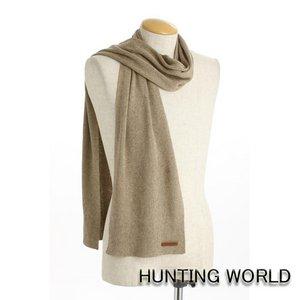 HUNTING WORLD(ハンティングワールド)/カシミア混マフラー/063300(ベージュ) - 拡大画像